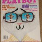 Playboy Magazine - September 1996 Uma Thurman, Nicholas Cage, cars, Patti McGuire, NFL football