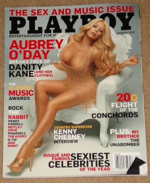 Playboy Magazine - March 2009 Aubrey O'Day, Kenny Chesney, Motley Crue, boom cars