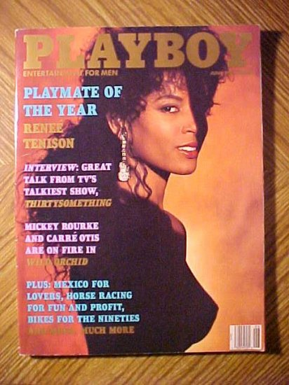 Playboy Magazine June 1990 B Renee Tenison Mickey