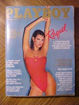 Playboy Magazine - December 1979 Raquel Welch, Al Pacino, comic book quiz, Christmas, NFL betting