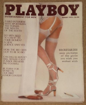 Playboy Magazine - August 1978, Ted Turner, The Bee Gees, NFL football, Secretaries, cheating men