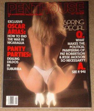 Penthouse magazine - May 1988, Brian Wilson of the Beach Boys, Oscar Arias, Panty parties