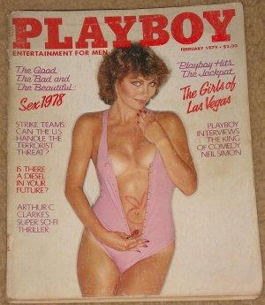 Playboy Magazine - February 1979 (B) terrorism, Neil Simon Diesel cars Arthur C. Clarke, Vegas girls