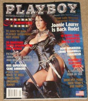 Playboy Magazine - January 2002 Joanie Laurer (Chyna), Dan Patrick, KISS Gene Simmons, Brit Hume