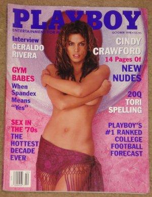 Playboy Magazine - October 1998 (B) Cindy Crawford, Geraldo Rivera, Gym babes, Tori Spelling,
