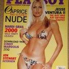 Playboy Magazine - March 2000 (B) Caprice, Jesse Ventura, Mardi Gras, Cindy Margolis, Jon Stewart