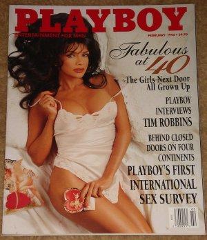 Playboy Magazine - February 1995 (B) Women after 40, Tim Robbins, sex survey, Lisa Marie Scott