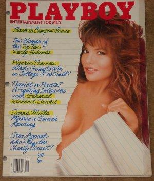 Playboy Magazine - October 1987 General Richard Secord, Donna Mills, Top 10 party school girls