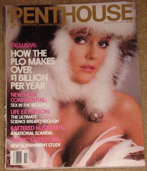 Penthouse magazine - November 1986 PLO, sex in New York, battered husbands, life extension