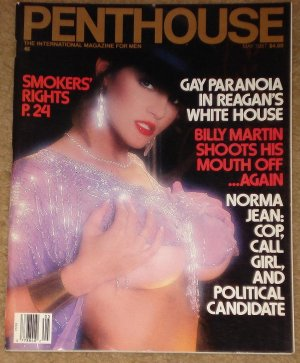 Penthouse magazine - May 1987 Billy Martin, Gay paranoia in the White House, Norma jean Almodovar