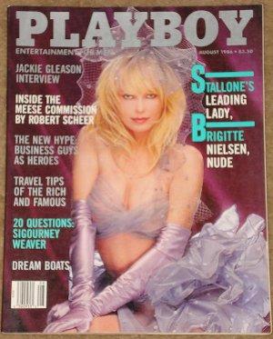 Playboy Magazine - August 1986 (B) Brigitte Nielson, Jackie Gleason, Sigourney Weaver, boats