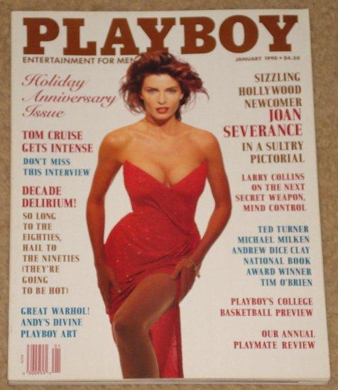 Playboy Magazine - January 1990 Joan Severance, Tom Cruise, Andrew Dice Clay, 1990's predictions