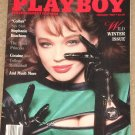 Playboy Magazine - February 1987 Stephanie Beacham, Cocaine & College basketball, Mickey Rourke