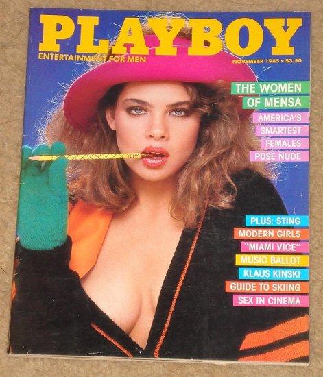 Playboy Magazine - November 1985 Mensa Women, Sting, Don Johnson, Klaus Kinski, sex in cinema