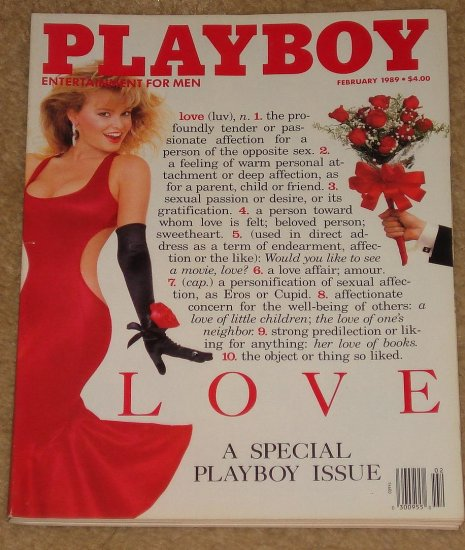 Playboy Magazine - February 1989 all about love, Bob Woodward, Andrea Marcovicci, cooking, drinking