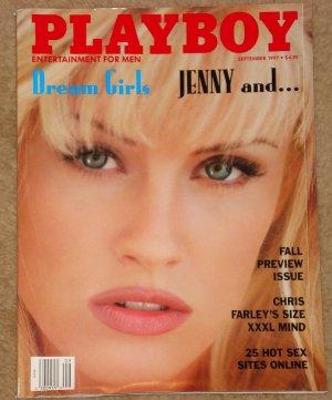 Playboy Magazine - September 1997 Jenny McCarthy (CVR) Pam (Pamela) Anderson Chris Farley, Walken