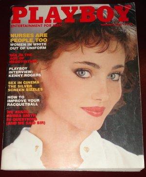Playboy Magazine - November 1983 Nurses, Kenny Rogers, racquetball tips, Bubba Smith