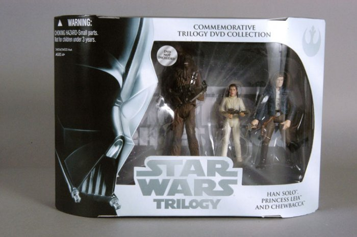 2004 Star Wars Empire Strikes Back DVD Trilogy 3 figure set MIB