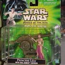 Star Wars Power of the Force -- Princess Leia with Sail Barge Cannon -- in Package