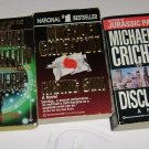5 Michael Crichton Paperbacks