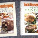 2 Good Housekeeping Step By Step Main Dish & Great Desserts Cookbooks