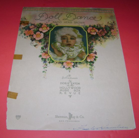 Vocal Doll Dance Nacio Herb Brown as introed by Doris Eaton