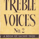 Treble Voices No 2 Book Of Sacred Trios