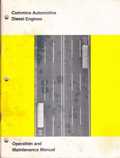 Cummins Automotive Diesel Engines Manual 1973