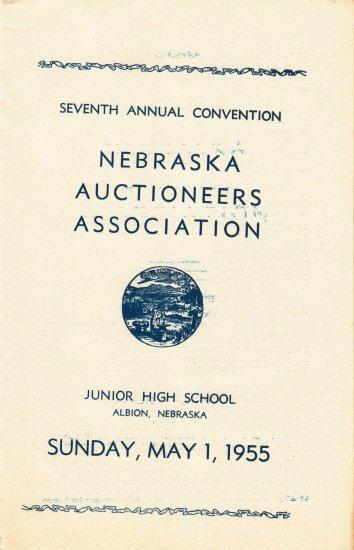 Seventh Annual Convention Nebraska Auctioneers Association 1955