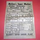 McGinn's Super Market North Bend Nebraska advertisement
