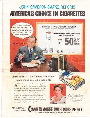 John Cameron Swayze pitching Camel Cigarettes advertisement