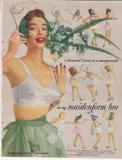 Maidenform bra advertisement 50's