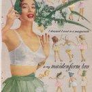 Maidenform bra advertisement 50's