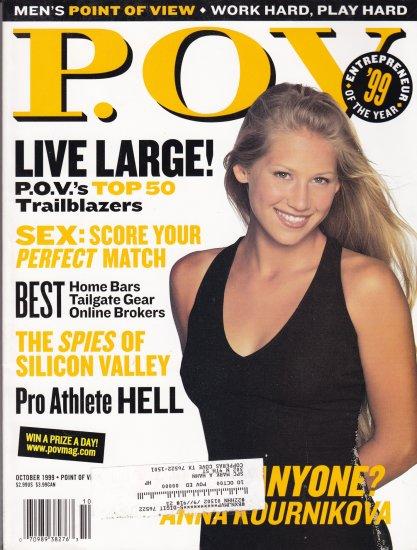 P.O.V magazine oct 1999 cover Anna Kournikova
