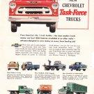 Chevrolet Task-Force Trucks advertisement full page