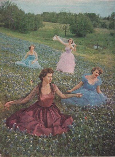 Betty Cathryn Mary Ann Glenda Sue Fan Ellen Johnson color picture Cappers Farmer