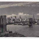 Vintage Postcard Brooklyn Bridge New York City