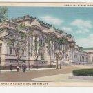Vintage New York Postcard Metropolitan Museum of Art BLDG