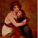 1931 calendar art print Madam Le Brun and Daughter Self Portrait