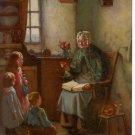 """1931 Calendar art print """"THE OLD STORY"""" Henry John Dobson"""