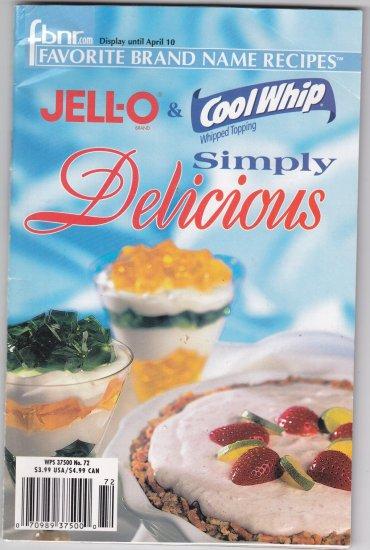 FBNR Jello Cool Whip Simply Delicious recipes