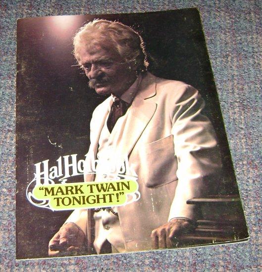 Hal Holbrook Mark Twain Tonight brochure sovenir
