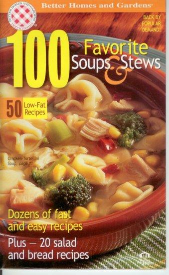 100 favorite soup & stews Better Homes & Garden recipe cookbook