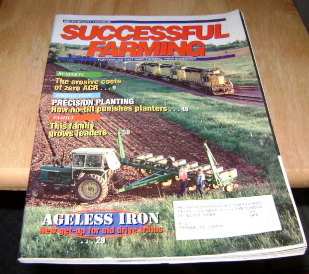 successful farming feb 1994 ageless iron Don & Carole Kleiboeker family article