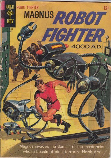 Gold Key Magnus Robot Fighter Comic NO 11 Aug 1965