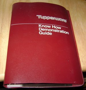 Tupperware Know How Demonstration Guide 1985