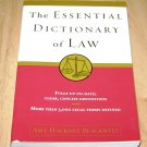 The Essential Dictionary of Law Amy Hackney Blackwell PB