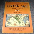 Feb 1929 The Living Age Magazine Marshal Foch Story