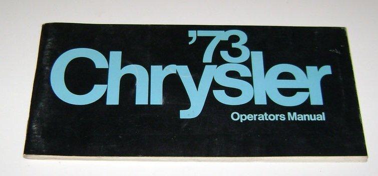 1973 Chrysler Operators Manual