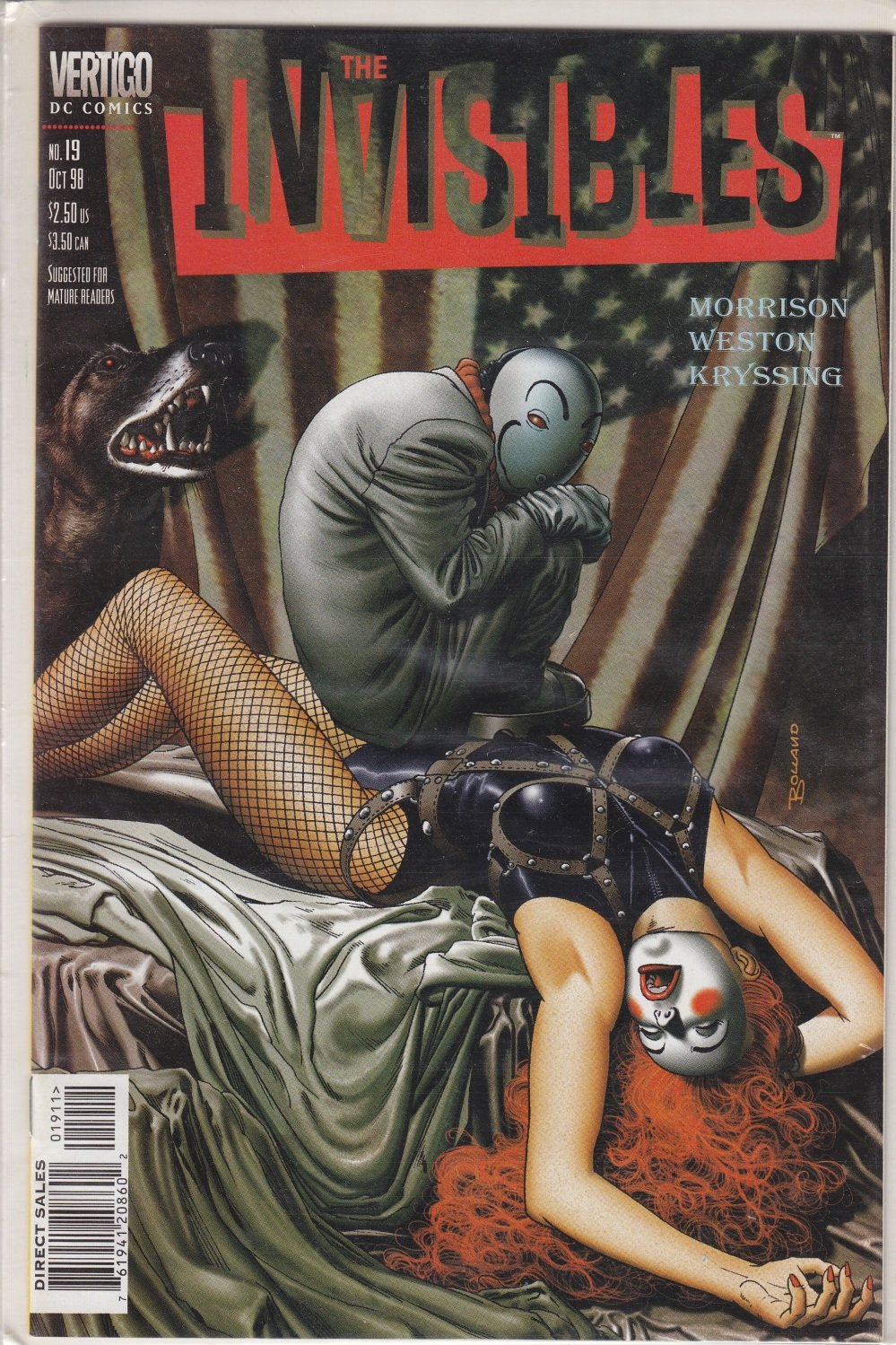 Vertigo The Invisibles No 19 DC Comics Morrison Weston Kryssing